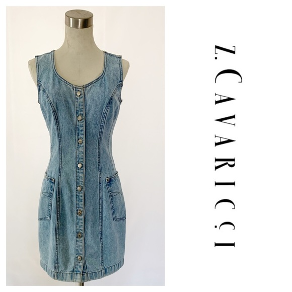 Z. Cavaricci Dresses & Skirts - Z. Cavaricci Stone Washed Denim Dress Sleeveless